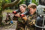 Forest Laser Tag Adventure with Pizza for Two