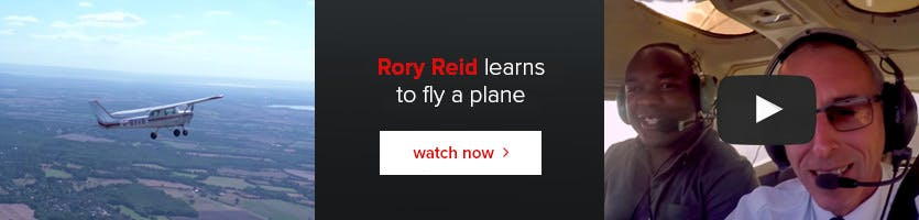 Rory Reid learns to fly a plane.